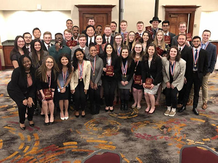 Kettering's DECA team was one of nine Collegiate DECA teams at the competition February 1-3 in Dearborn, Michigan, with 38 Kettering students participating.