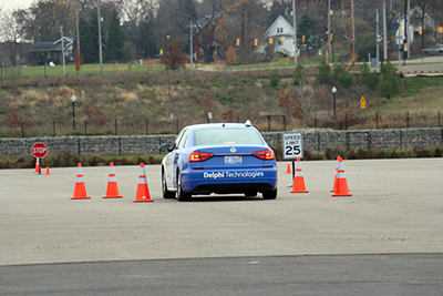 Delphi Technologies demos Intelligent Driving on Kettering's test track