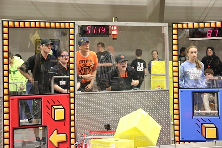 The 2018 FIRST Robotics District competition at Kettering University.
