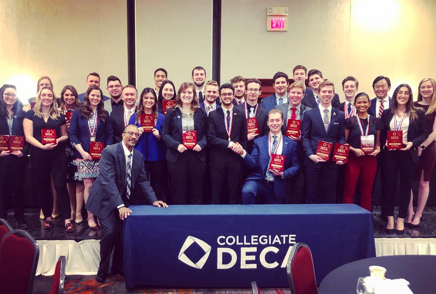 DECA team at February 2020 conference